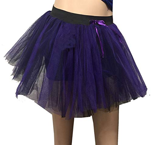Womens Nero Party Viola Wear 3 E Fashions Size One Purple Black And Skirt Ladies Tutu Gonna Islander Strati Halloween vmy0wON8nP