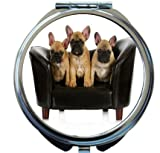 Rikki Knight French Bulldog Litter Design Round Compact Mirror