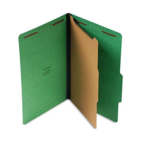 Universal Pressboard Folder, Legal, Four-Section, Emerald Green, 10/Box (10212)