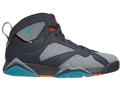 Air Jordan 7 Retro Barcelona Heren Sneakers 304775-016 Donkergrijs / Wolf Grijs-totaal Oranje-turquoi
