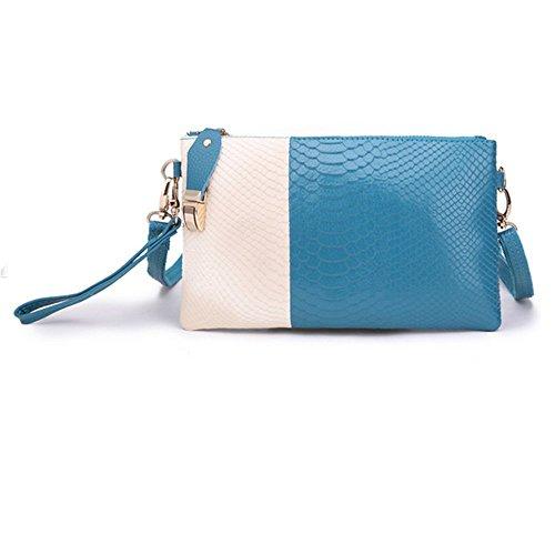 Eysee - Cartera de mano para mujer Rojo azul (Sky Blue) 24cm*14cm*1cm azul (Sky Blue)