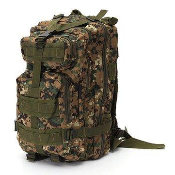 Mefly 30L Waterproof Nylon Attract Military 3P Backpack Rucksack Trekking Shoulder Bag Pack,Digital Camo