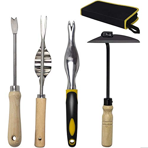 KOTTO 4 Pack Set Hand Weeder Tool, Garden Weeding