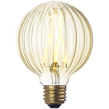 Faceted Led Globe Bulb G25 Round Edison Light Warm White Glow