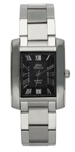 Gino Franco Men's 925CH Stainless Steel Bracelet Watch
