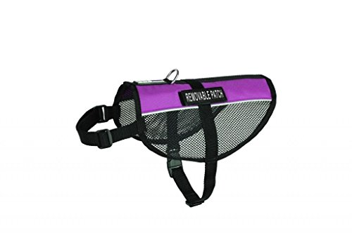 Therapy Service Dog mesh vest Harness Cool Comfort Nylon for dogs Small Medium Large Purchase comes with 2 reflective THERAPY DOG pathces. PLEASE MEASURE your dog before ordering (Mesh Therapy)