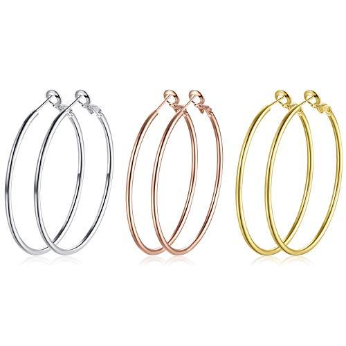 Silver Hoop Earrings 3...