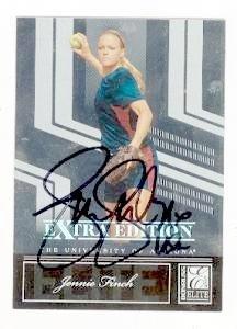 Jennie Finch autographed baseball card (Softball University of Arizona) 2007 Donruss Elite - Warehouse Softball