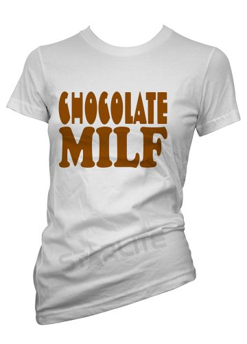 Starlite-Womens Funny Tshirts-Chocolate MILF T-Shirts-funny gifts