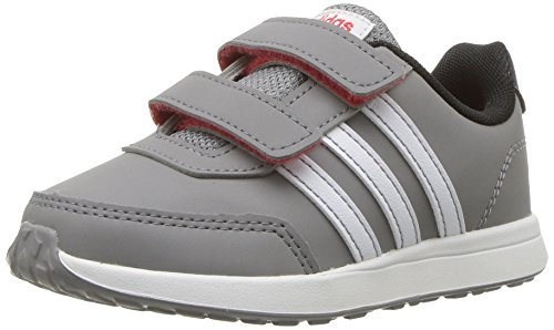 adidas Baby VS Switch 2 Cmf Inf Sneaker, Grey Three Fabric,White, Core Black, 4K M US Infant - Adidas Infant Sneakers