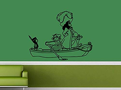 (Captain Hook and Mr. SMEE Stole Tiger Lily Vinyl Sticker Cartoon Walt Disney Wall Mural Peter Pan Wall Vinyl Decal Home Interior Decor Kids Room Applique Baby Room Vinyl)