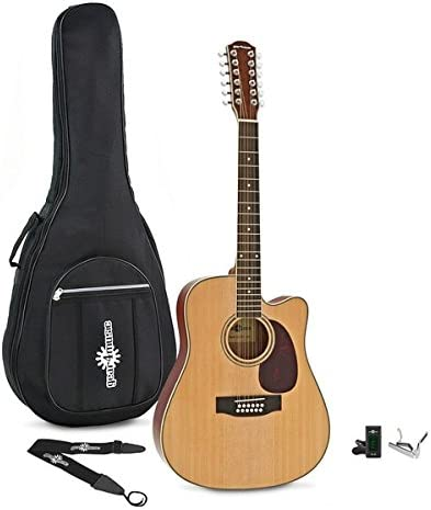 Dreadnought 12 String Acoustic Guitar Natural + Accessory Pack: Amazon.es: Instrumentos musicales