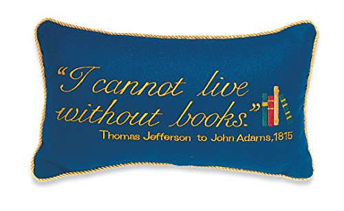 Monticello Book Quote Pillow