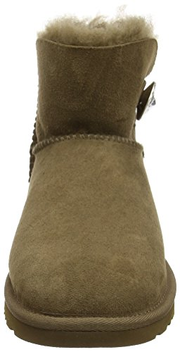 Ugg AustraliaMini Bailey Button Bling - Botas mujer Verde - green (Dry Leaf)