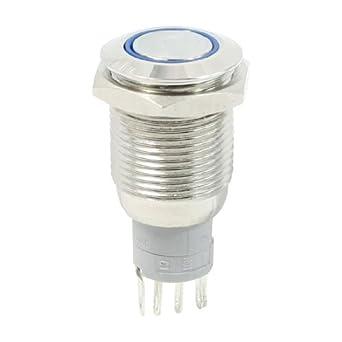 eDealMax anillo de luz LED inoxidable interruptor pulsador ...