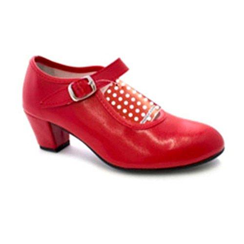 eine 41 Danka Sevilla Flamenco Mädchen Tanzschuh rot größe Frau oder zBPqvI