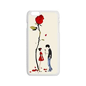 romantic red rose lover personalized high quality cell phone case for Iphone 6 wangjiang maoyi