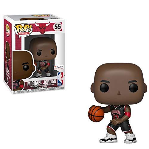 - POP! NBA Bulls Michael Jordan Vinyl Figure (Black Jersey) #55 Exclusive