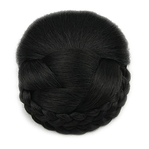 black-lattice-effect-clip-in-hair-bun-clip-on-glamorous-hairpiece-in-natural-black-by-rqueen