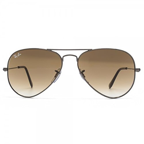 Sunglasses Authentic Shiny 00451 004 brown Rb3025 Small Ray 55mm 3025 W Aviator 51 Gunmetal Gradient ban ZqXfvwI