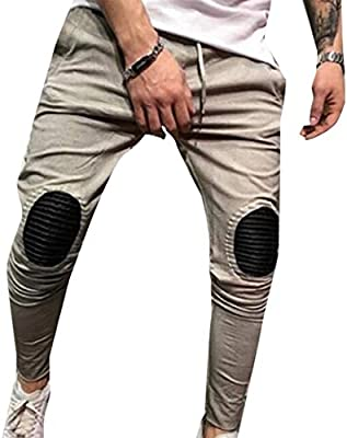 Men Ripped Skinny Denim Jeans Cotton Stretch Pencil Pants