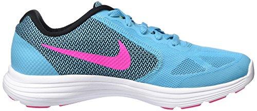 Nike Revolution 3 (Gs), Zapatillas para Niñas Azul (Gamma Blue / Pink Blast Blck Wht)