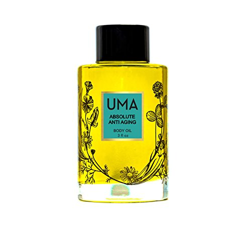 UMA Absolute Anti-Aging Body Oil. Antioxidant Rich Moisture Blend of Organic Botanicals to Firm and Revitalize Skin. (3 FL Oz.) (Body Moisture Today)