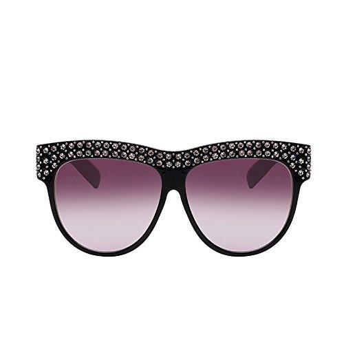 TIANLIANG04 La Mujer G054 Sol Solar Viaje Protección Gafas Rhinestone Sol Cuadrado Mujer De De Gafas De Gradiente Sobredimensionado Lente Gafas rIqprzw1