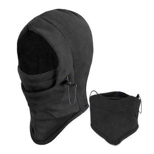 1pc Winter Ski Bike Wind Stopper Face Mask Men Neck Warmer Winter Fleece - Black by BestBuyProduct-SportOutdoor