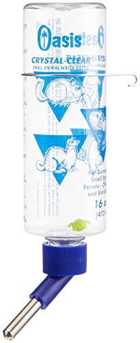 Pets 16 Ounce Bottle (OASIS # 80600  Crystal Clear Water Bottle for Guinea Pig,)