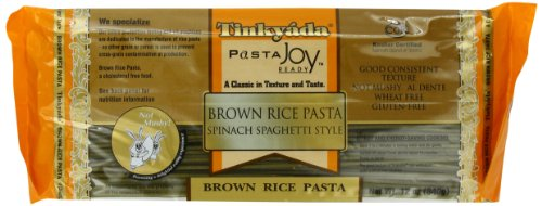 (Tinkyada Brown Rice Pasta, Spaghetti with Spinach, 12 Ounce (Pack of 12))