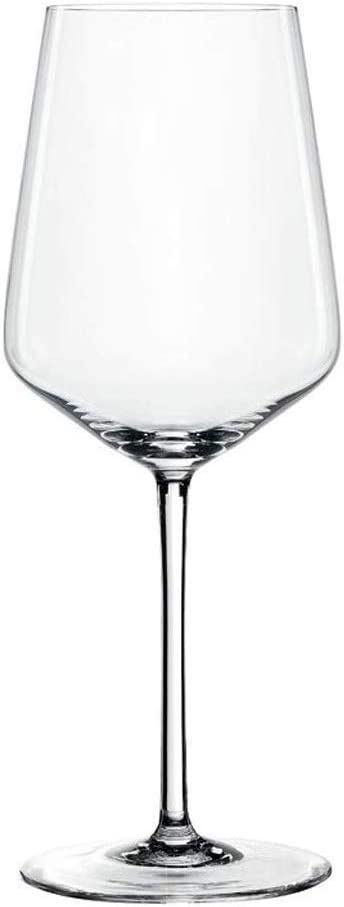 Spiegelau Style, Set of 4 European-Made No-Lead Crystal, Classic Stemmed, Dishwasher Safe, Professional Quality White Wine Glass Gift Set, Clear