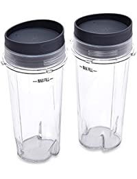 Purchase Ninja XWP002CS Single Serve Cups with Lids, Clear, 16-Ounce deliver