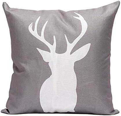 Amazon.com: gotd Antler almohada Navidad decoraciones Cuerno ...