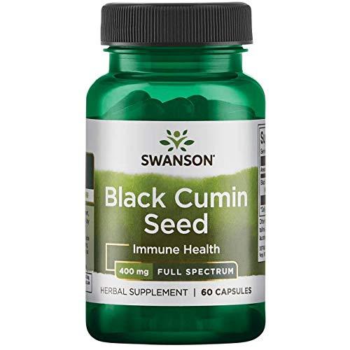 Swanson Full Spectrum Black Cumin Seed 400 Milligrams 60 Capsules