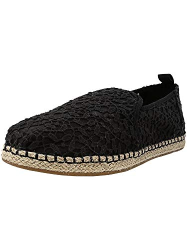 TOMS Women's Deconstructed Alpargata Rope Black Lace Leaves 9 B US for $<!--$37.95-->