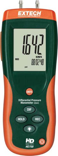 Extech HD700 Differential Pressure Manometer - 2PSI ()