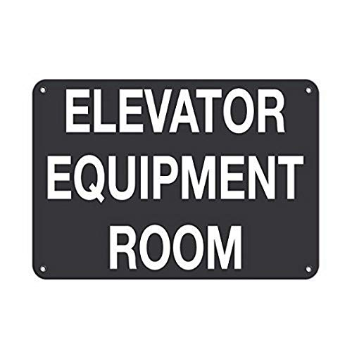 YFULL Wall Signs Personalized Metal Signs for Outdoors Elevator Equipment Room Business Sign Elevator Signs Aluminum Metal Sign 8 X12 Inch Banners and Signs]()