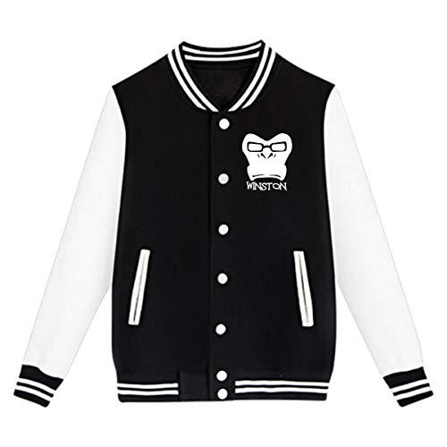 EengFang Unisex Youth Overwatch Winston Funny Baseball Uniform Sport Coat XL Black