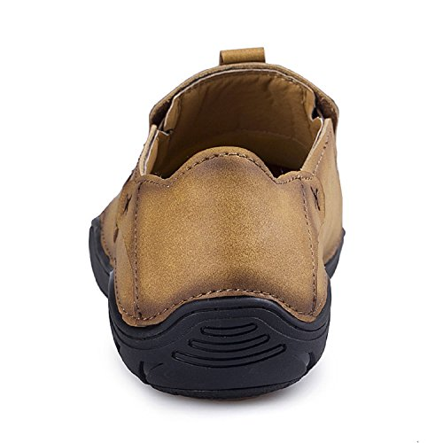 Shoes Men's Shoes Slipper Leather Casual Khaki Fashion Slip Driving On TQGOLD Loafer CFvqBBd