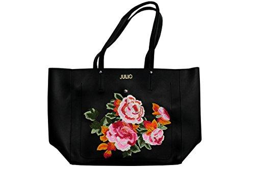Julio line bolsos de mano con bordado flor e mochila internamente