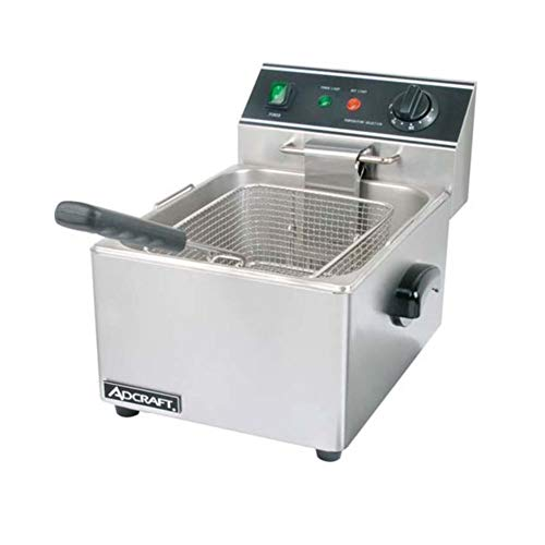 Adcraft DF-6L 15-Pound Single Tank Electric Countertop Fryer, 120v, NSF