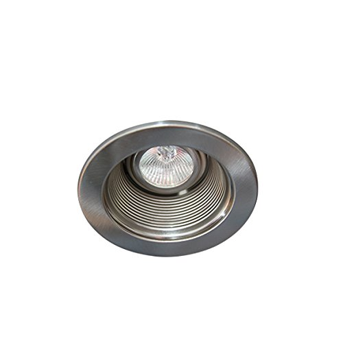 Eco Lighting NY HLV3001SN/SN 3-Inch for both Line/Low Voltage Trim Recessed Light, Adjustable Step Baffle, Baffle: Satin Nickel, Ring: Satin Nickel - Voltage Adjustable Recessed Trim