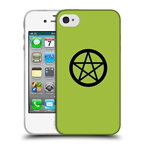 GoGoMobile Coque de Protection TPU Silicone Case pour // Q08390603 Religion 3 Android vert // Apple iPhone 4 4S 4G
