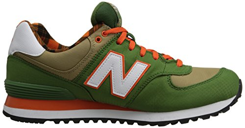 New Balance Ml574Ftc - Zapatillas de gimnasia para hombre Green/Orange