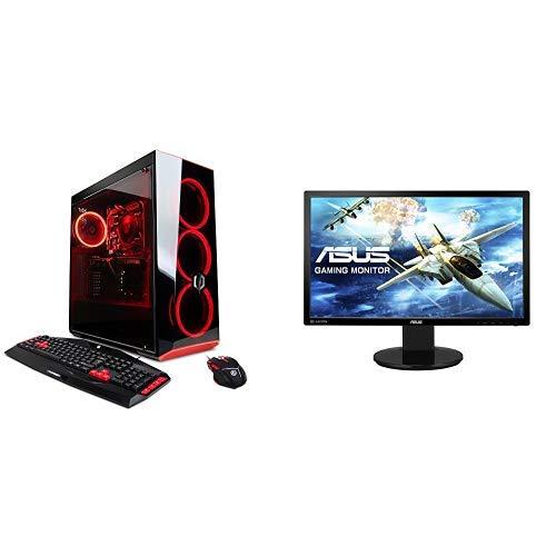 CYBERPOWERPC Gamer Xtreme GXIVR8020A4 Desktop Gaming PC (Intel i5-7400 quad core processor 7th generation, AMD RX 580 4GB graphics processor, 8GB DDR4 RAM, 1TB 7200RPM HDD, WiFi, Win 10 Home 64-bit), Black - VR Ready