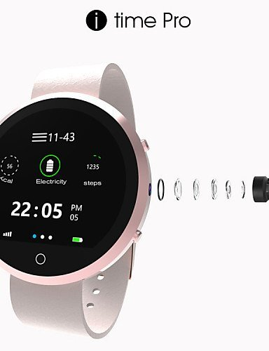 Itime Pro Bluetooth Smart Watch Bluetooth3.0 / Hands-Free Calls/Heart Rate Monitor/Activity Tracker For IOS Android , silver by FMSBSC