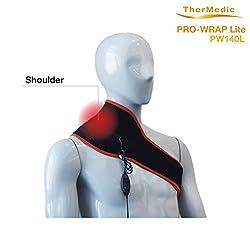 Thermedic Pw140l Far Infrared Neck, Shoulder & Lower Back Heating Pad, Orange, 1.2 lb