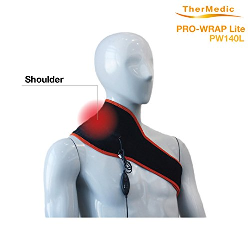 Thermedic Pw140l Far Infrared Neck, Shoulder and Lower Back Heating Pad, Orange, 1.2 Pound by TherMedic