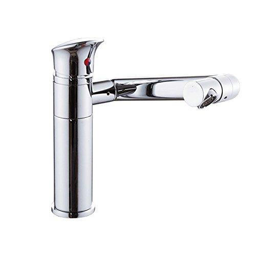 MEIBATH Waschtischarmatur Badezimmer Waschbecken Wasserhahn Küchenarmaturen Messing Warmes und Kaltes Wasser Schwenken Küchen Wasserhahn Badarmatur